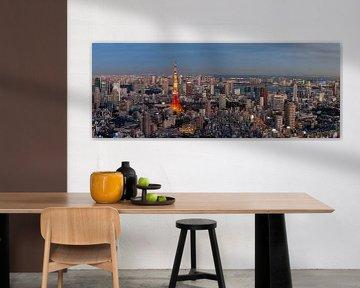 """Blick auf den Tokyo Tower während """"blaue Stunde"""" von Juriaan Wossink"""
