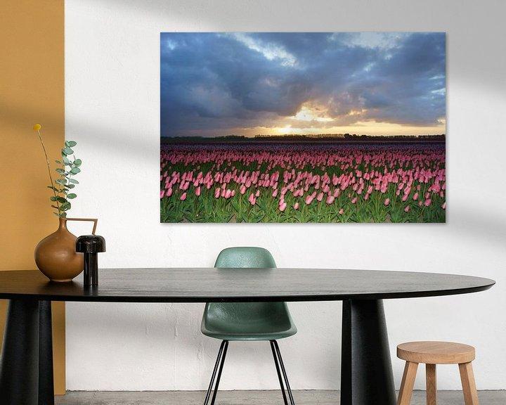 Sfeerimpressie: Tulpen op Goeree-Overflakkee van Michel van Kooten