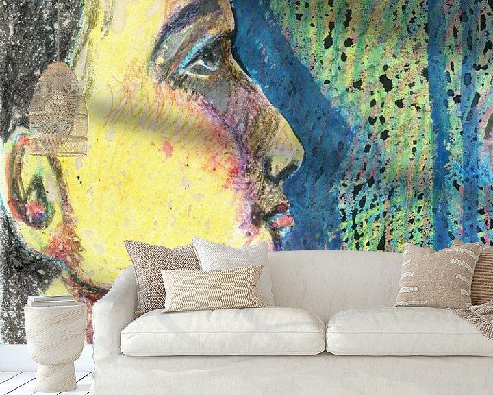 Sfeerimpressie behang: Singapore van Sandrine Lambert
