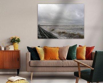 Storm aan zee van Johan Töpke