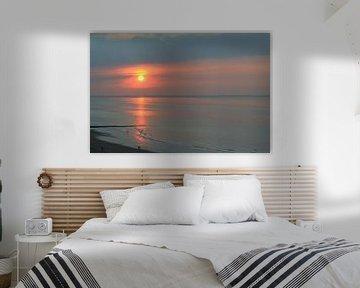 Romantische zonsondergang van Johan Töpke