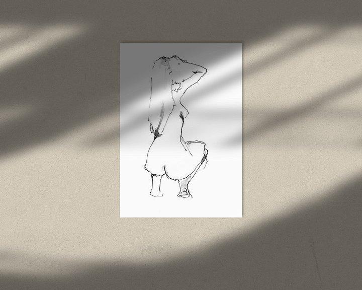 Beispiel: Hurkend naakt von Desiree Meulemans