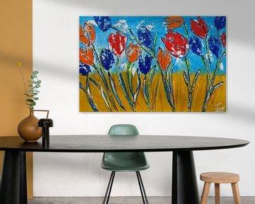 Tulpen – Ich liebe Holland von Femke van der Tak (fem-paintings)