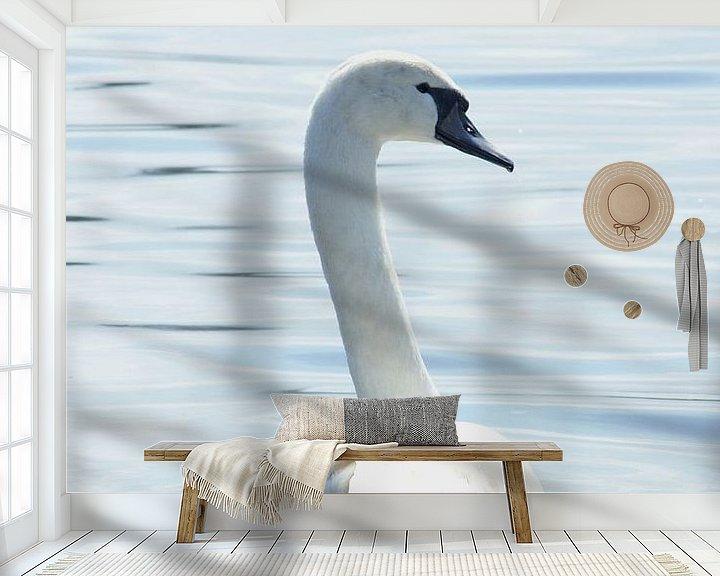 Sfeerimpressie behang: De Zwaan. van Bas Smit