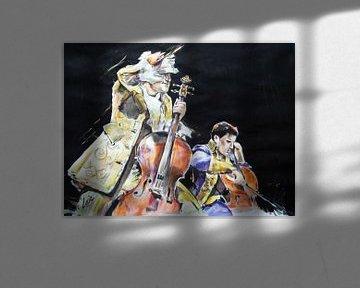 The Two Cello's von Lucia Hoogervorst