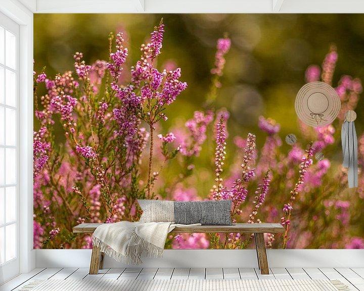 Sfeerimpressie behang: Heide in bloei van Tux Photography