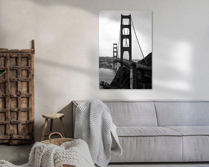 Sfeerimpressie: Golden Gate Bridge in San Francisco, USA van Ricardo Bouman