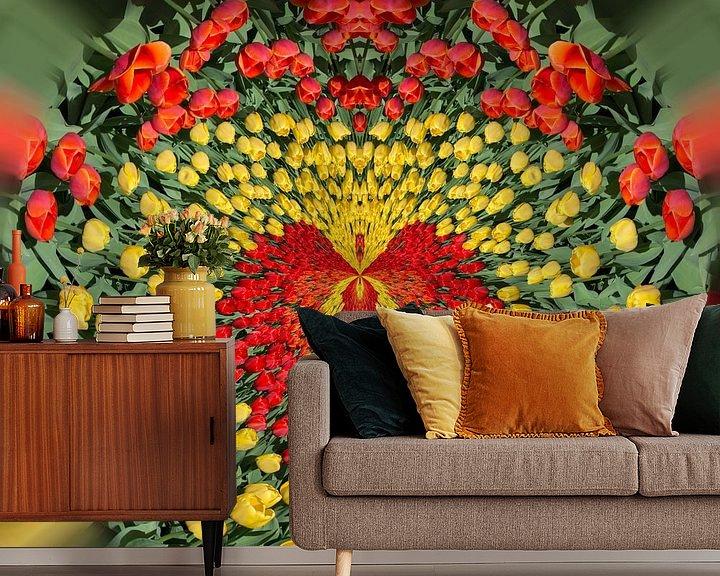 Sfeerimpressie behang: Love tulips 1 van Kok and Kok