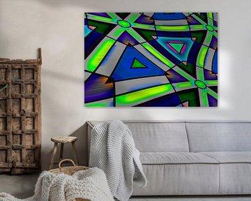 Abstrakt Triangle 2 von Roswitha Lorz