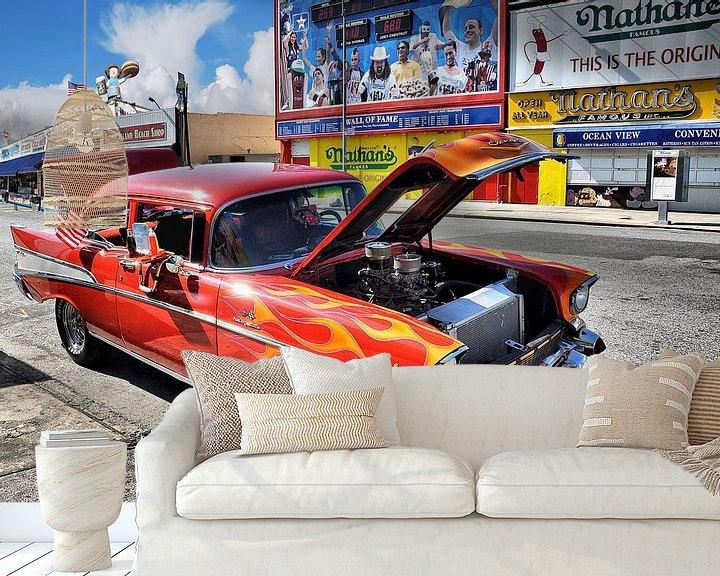 Sfeerimpressie behang: Coney Island van Tineke Visscher