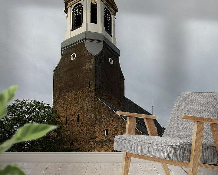 Sfeerimpressie behang: Grote Kerk te Nijkerk van Pierre Timmermans
