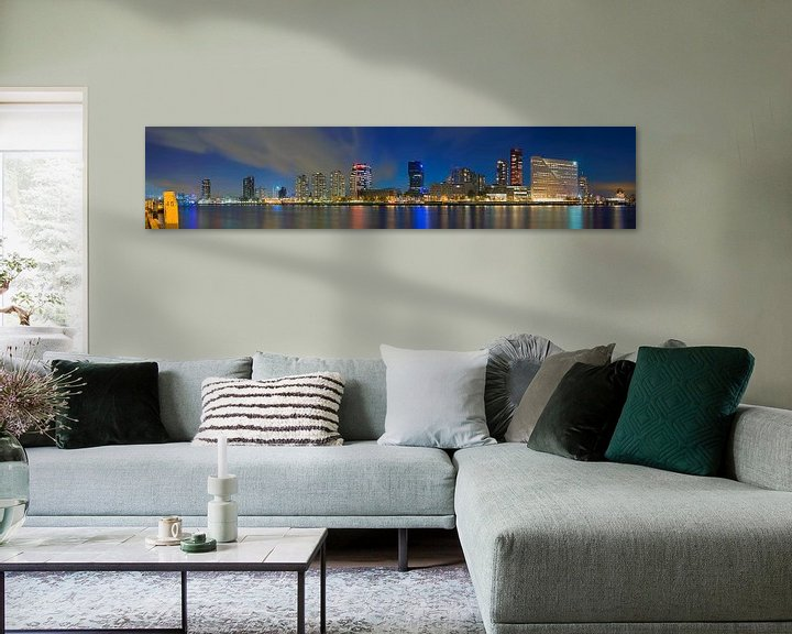 Sfeerimpressie: Panorama de Boompjes te Rotterdam van Anton de Zeeuw