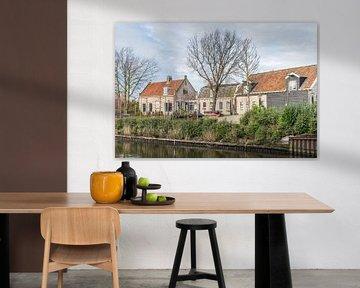 Charakteristische Häuser in Willemstad von Ruud Morijn