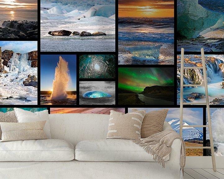 Impression: collage Islande sur Anton de Zeeuw