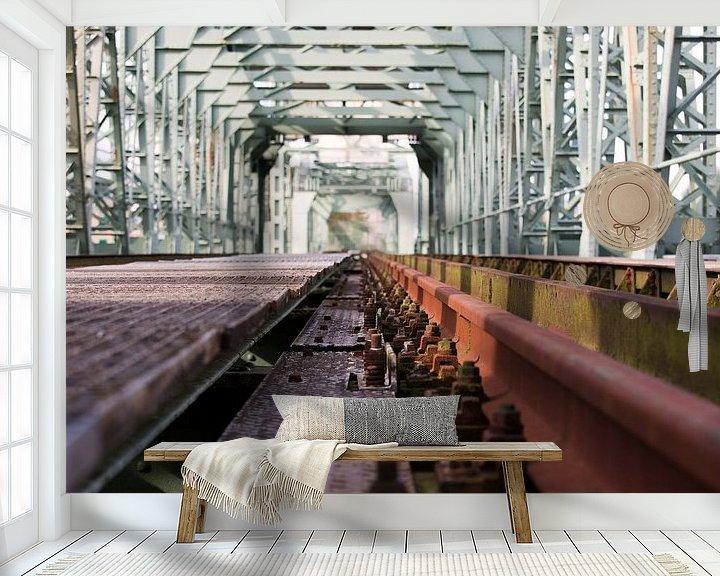 Sfeerimpressie behang: De Hef closeup te Rotterdam van Anton de Zeeuw