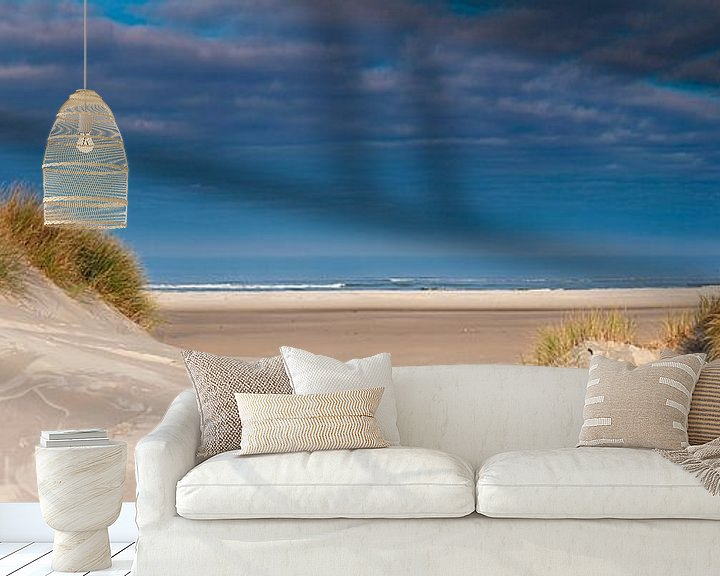 Sfeerimpressie behang: Panorama duin en strand van Anton de Zeeuw