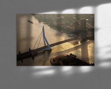Pont Erasmus, vu de l'air à Rotterdam