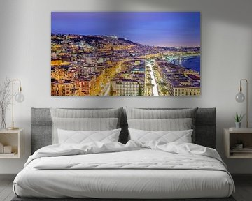 Napels, uitzicht over de stad - Napoli, view of the city van Teun Ruijters