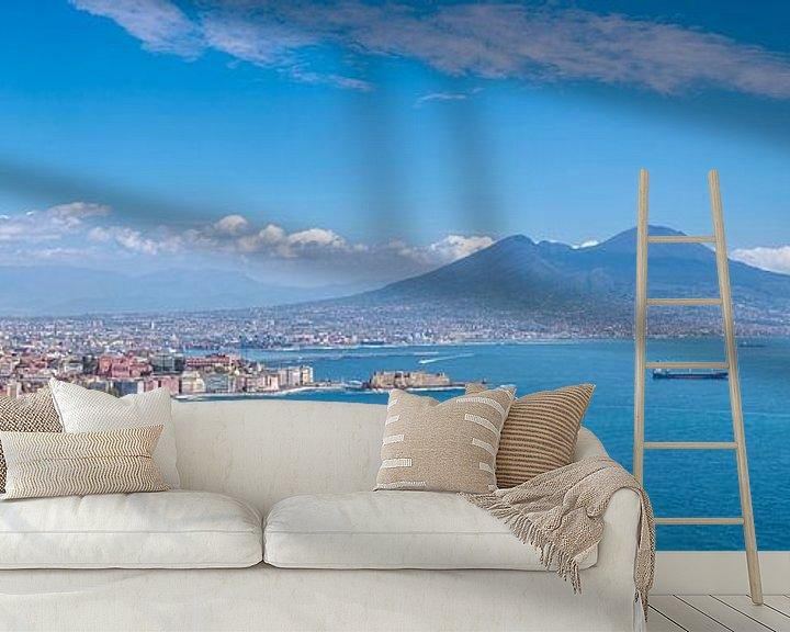 Beispiel fototapete: Neapel und der Vesuv von Teun Ruijters