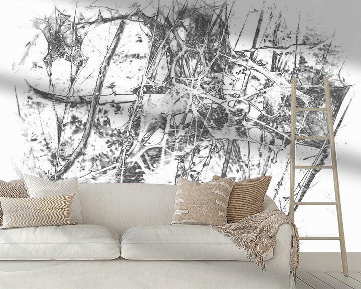 Sfeerimpressie behang: Caterpillar 1 van Jon Houkes
