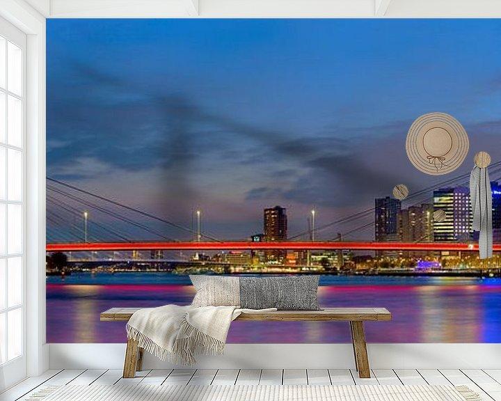 Sfeerimpressie behang: Panorama Willemsbrug van Anton de Zeeuw