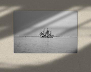 Zeilschip in Zeeland van Kas Den Elzen