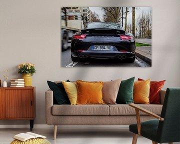 Porsche in Parijs van Kas Den Elzen