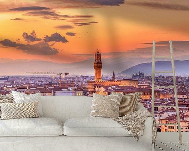 Impression:  Skyline Florence la nuit I sur Teun Ruijters