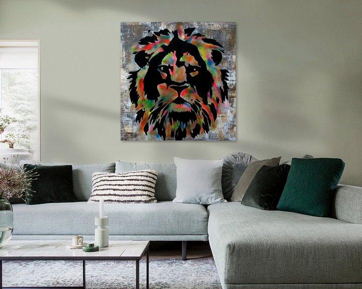 Beispiel: Löwe  von Femke van der Tak (fem-paintings)