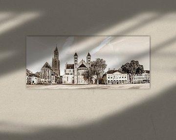 Vriethof - Mestreech, Vrijthof - Maastricht in sephia kleurtoon von Teun Ruijters
