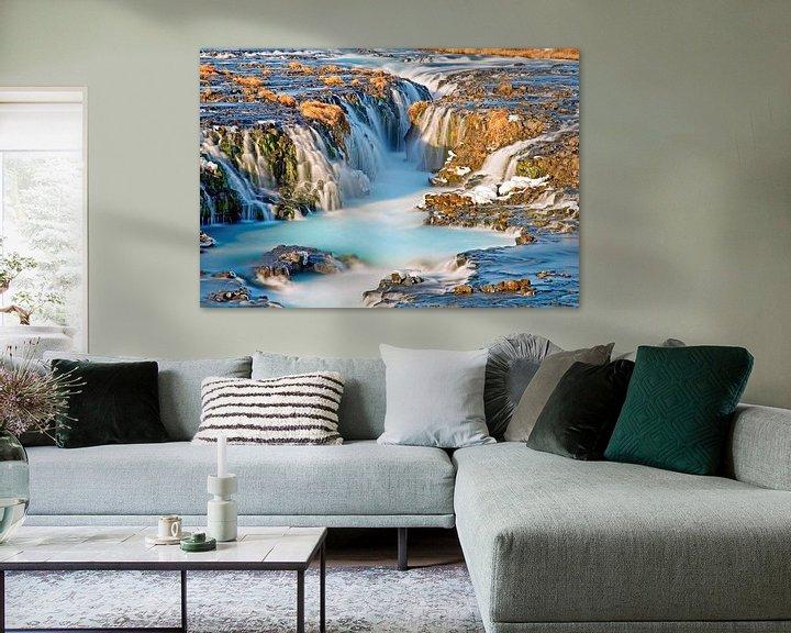 Sfeerimpressie: Waterval Bruarfoss te IJsland van Anton de Zeeuw