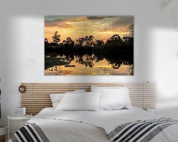 Zonsondergang in paradijs 2 van Rob Smit