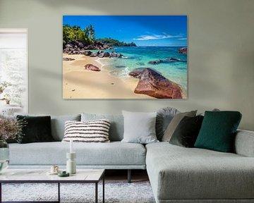 Traumstrand Baie Lazare  - Mahé - Seychellen von Max Steinwald