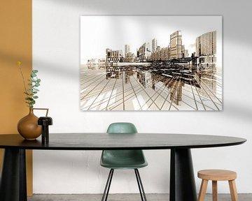architecture futuriste ville Poster-City