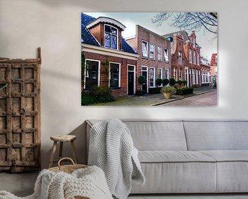Rijnstraat op een zonnige dag van Groningen Stad