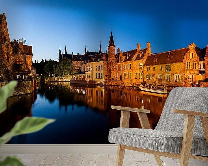 Sfeerimpressie behang: Brugge van Marcel Derweduwen