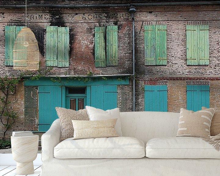 Sfeerimpressie behang: la maison verte van Yvonne Blokland