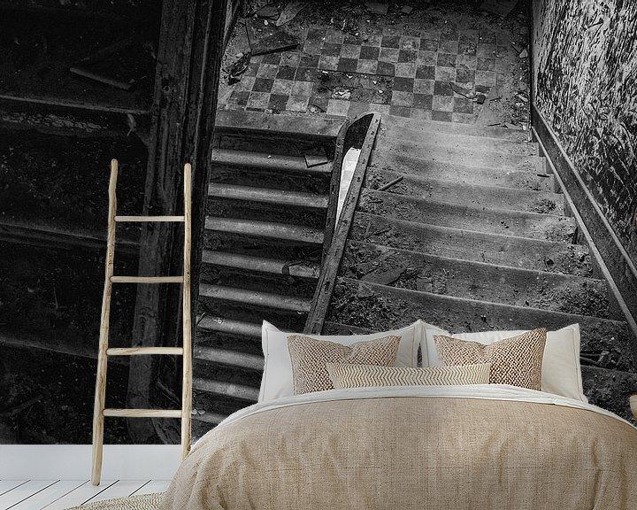 Sfeerimpressie behang: staircase van Jaco Verheul