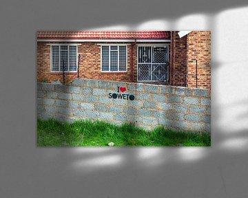 Woning in Soweto van Evert Jan Luchies