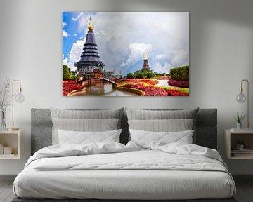 Koninklijke Boeddha Pagodes Thailand van Giovanni della Primavera