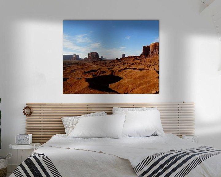 Sfeerimpressie: Zonsondergang Monument Valley USA van bird bee flower and tree