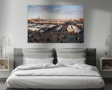 Djemaa el fna, Marrakech van Keesnan Dogger Fotografie
